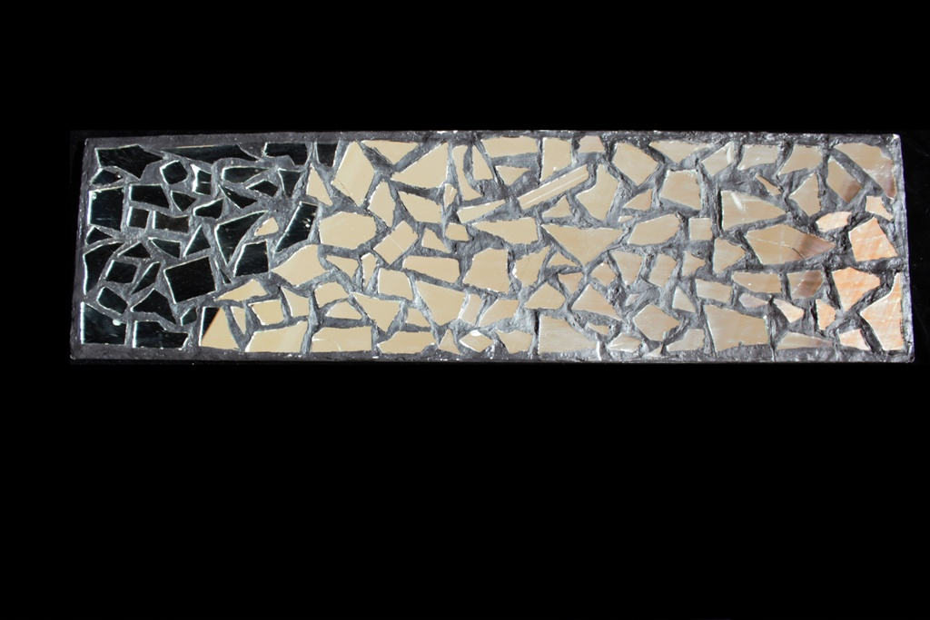 Narrow Mosaic Mirror Wall Decor