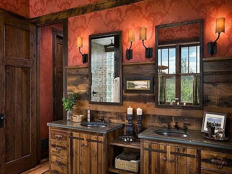 Image of: Nice Rustic Bathroom Wall Decor