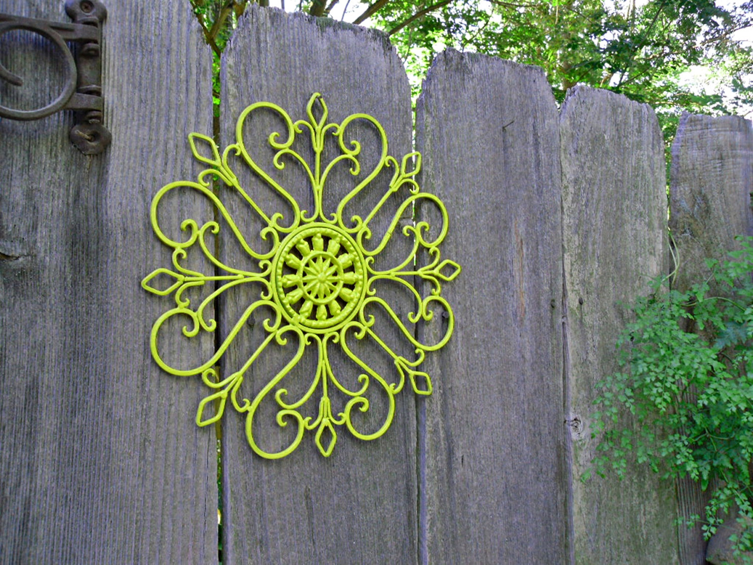 Nice Wrought Iron Outdoor Wall Decor