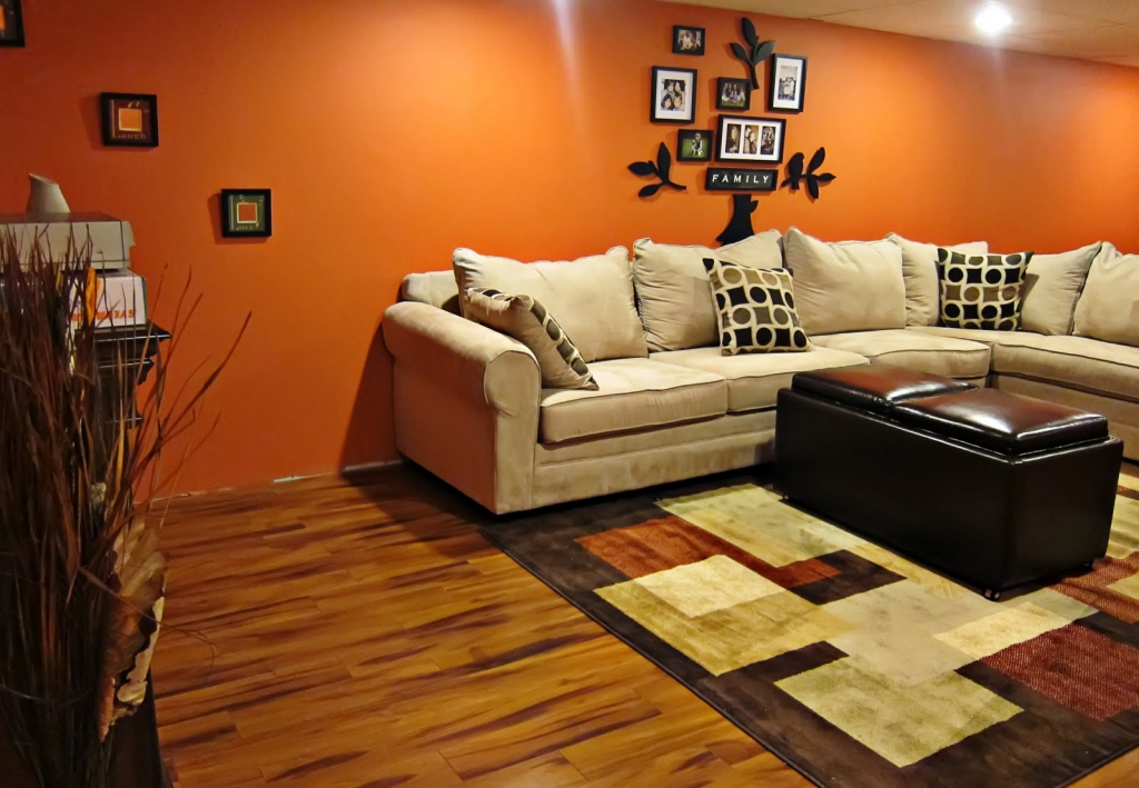 Image of: Orange Basement Wall Paint Sealer