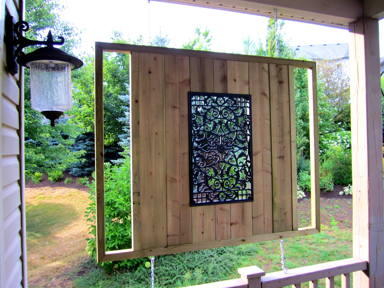 Image of: Outdoor Home Wall Decor Art