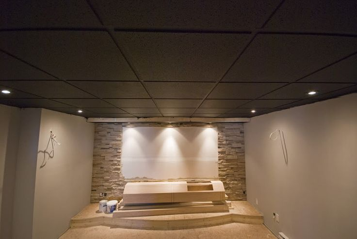 Picture of: Painted Basement Ceiling Dark