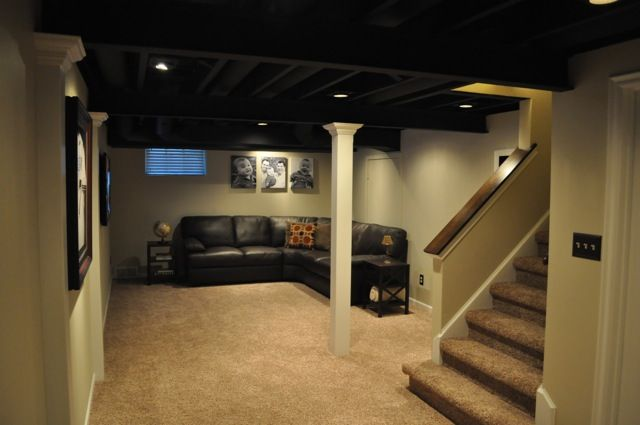 Picture of: Painted Basement Ceiling Design