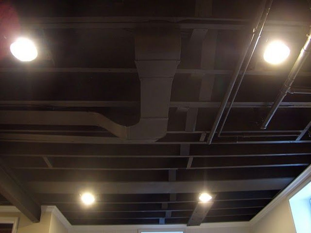 Painting Basement Ceiling Black All White