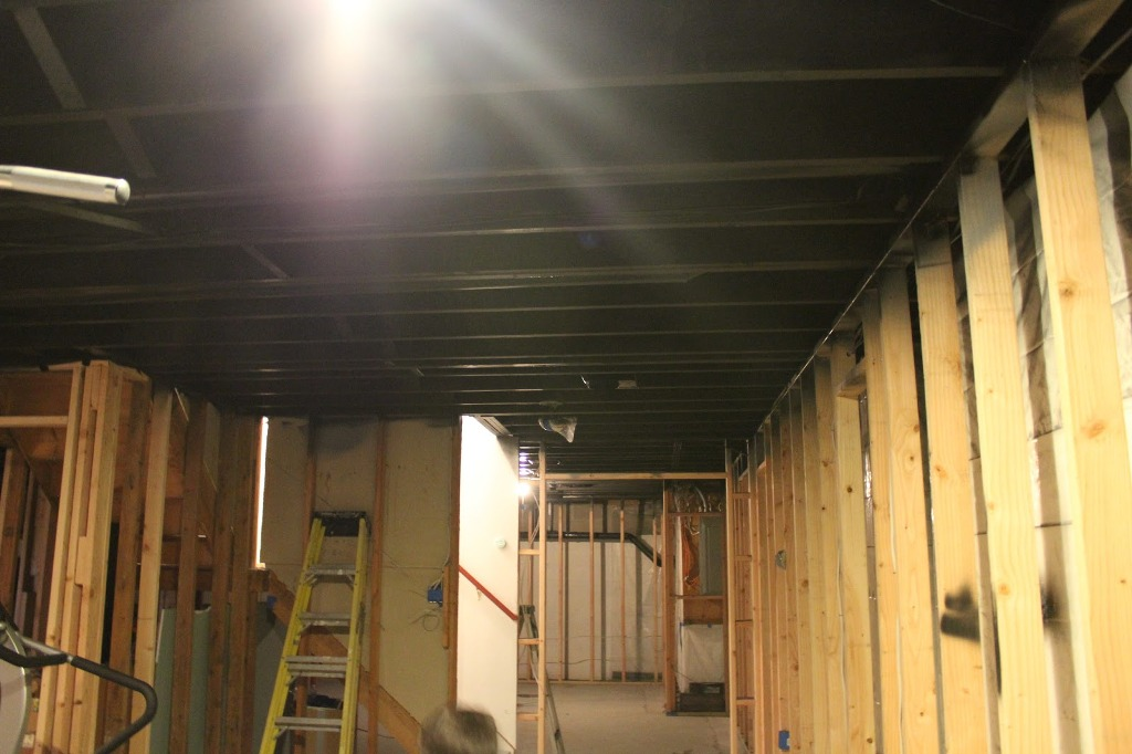 Painting Basement Ceiling Black Asbestos Floor Tiles