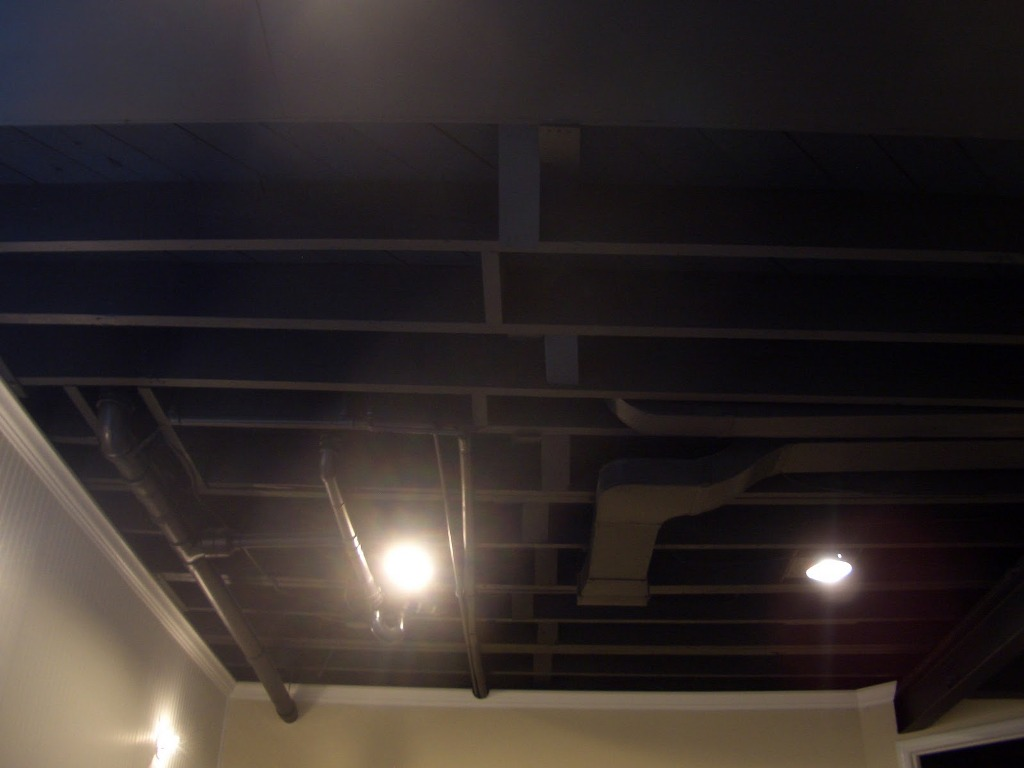 Image of: Painting Basement Ceiling Black Ceiling