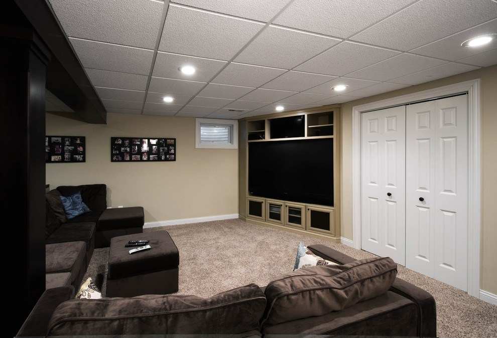 Image of: Popular Ideas for Drop Ceilings in Basements