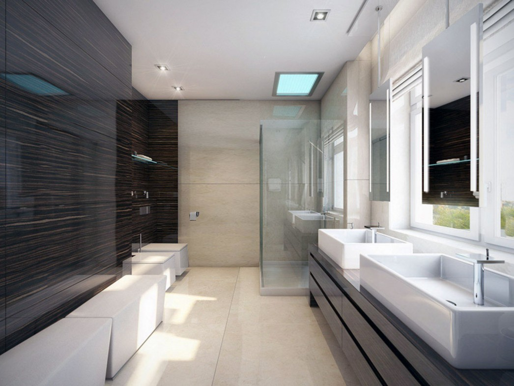 Image of: Popular Modern Bathroom Wall Decor