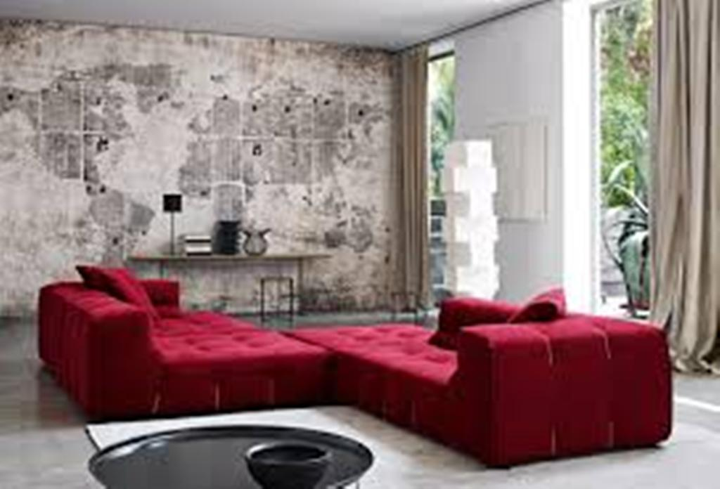 Image of: Red Wall Art Decor Drapery Wand