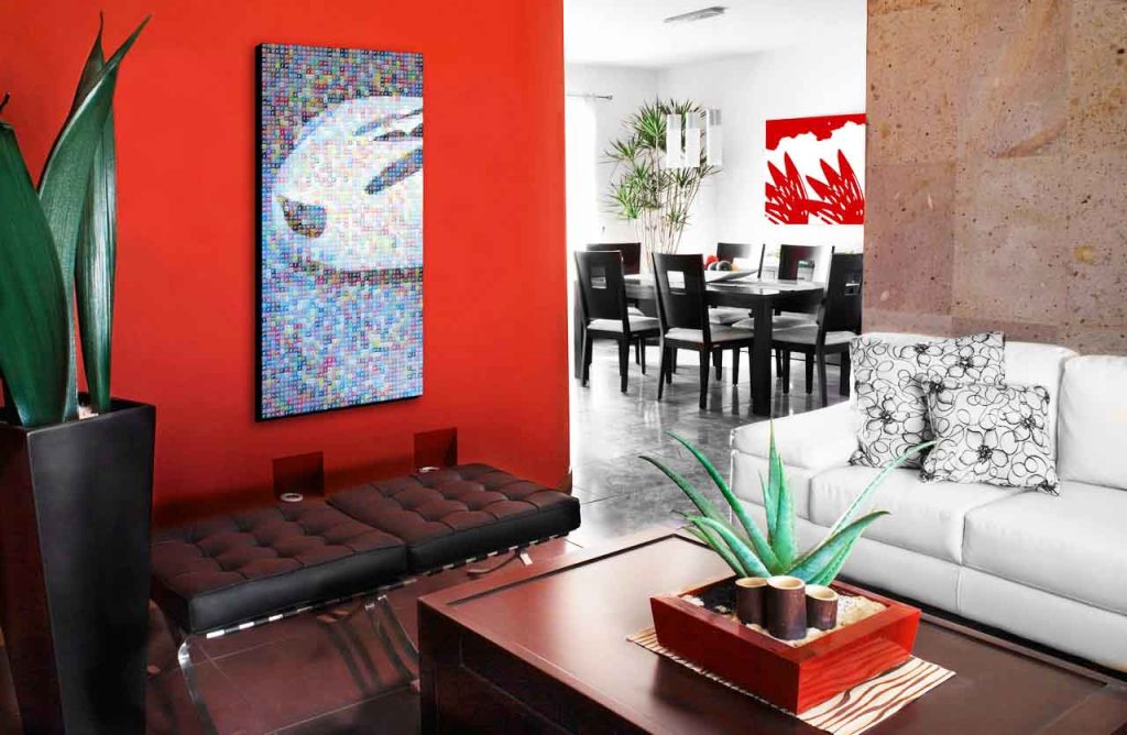 Image of: Red Wall Art Decor Store