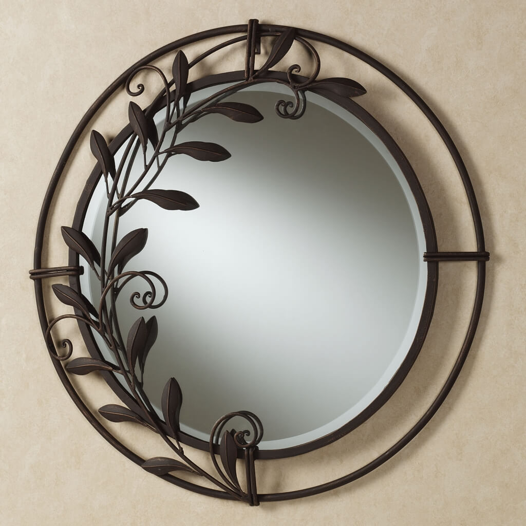 Image of: Round Mirror Wall Decor Ideas