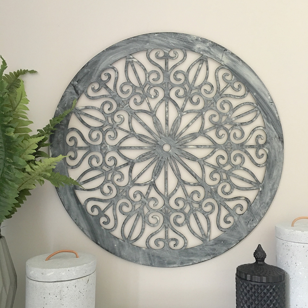 Round Outdoor Wall Decor Diy