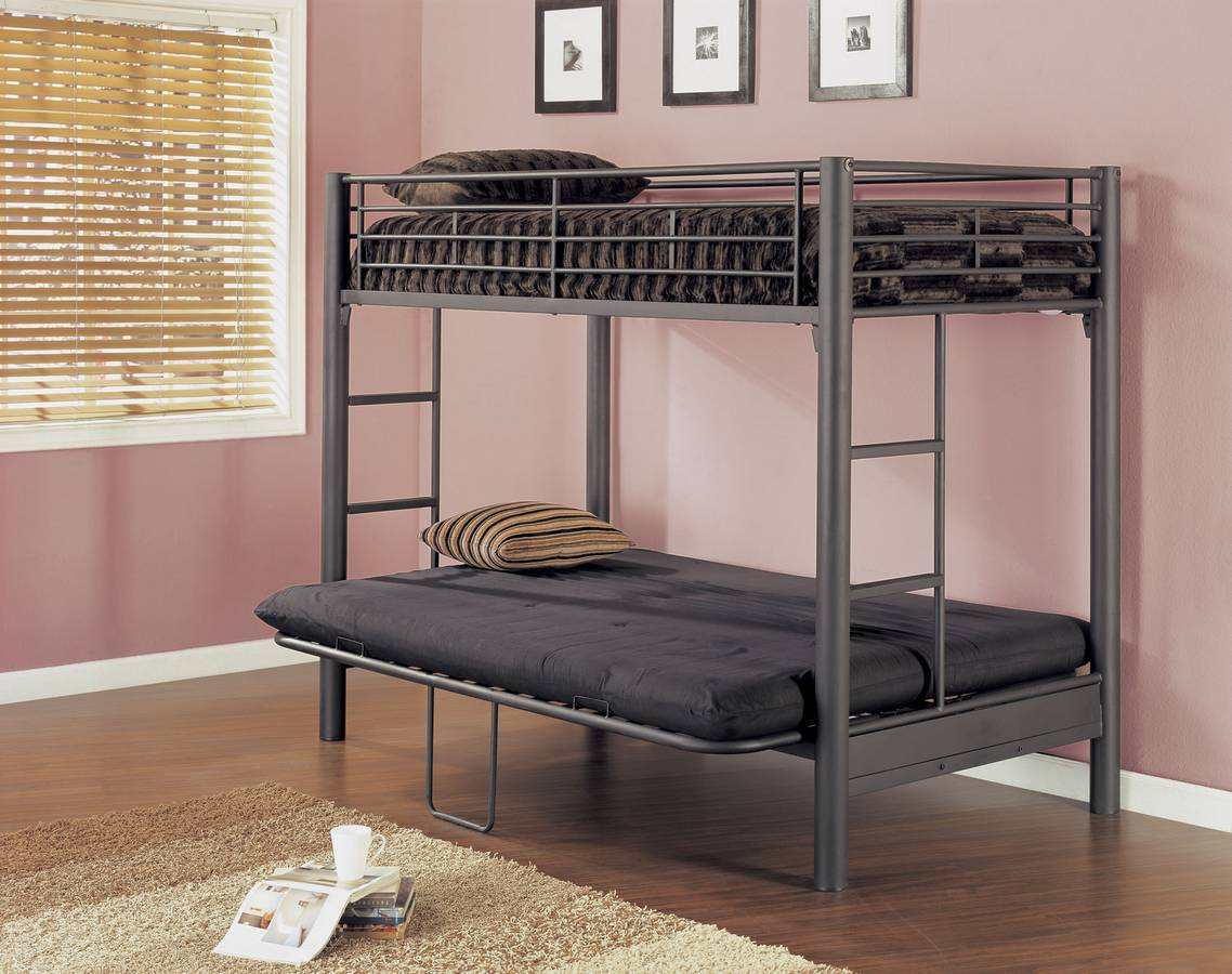 Simple Futon Bunk Bed With Mattress Included