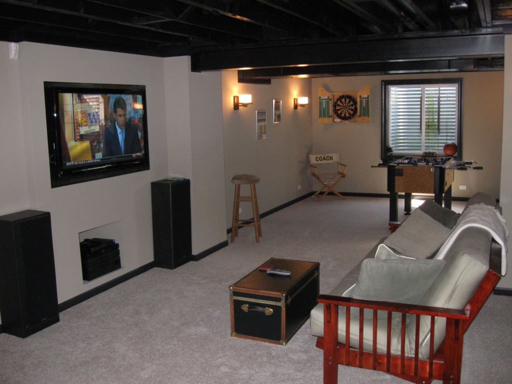 Image of: Small Basement Design Ideas Pictures