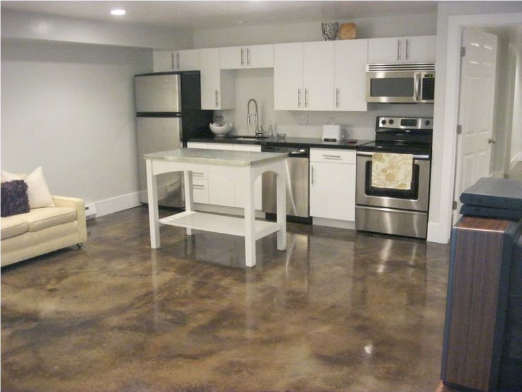 Picture of: Small Basement Kitchen Ideas Pictures