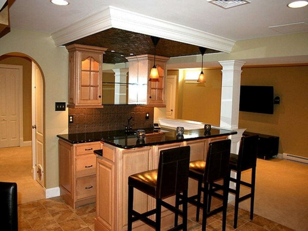 Picture of: Small Basement Kitchen Ideas Plans