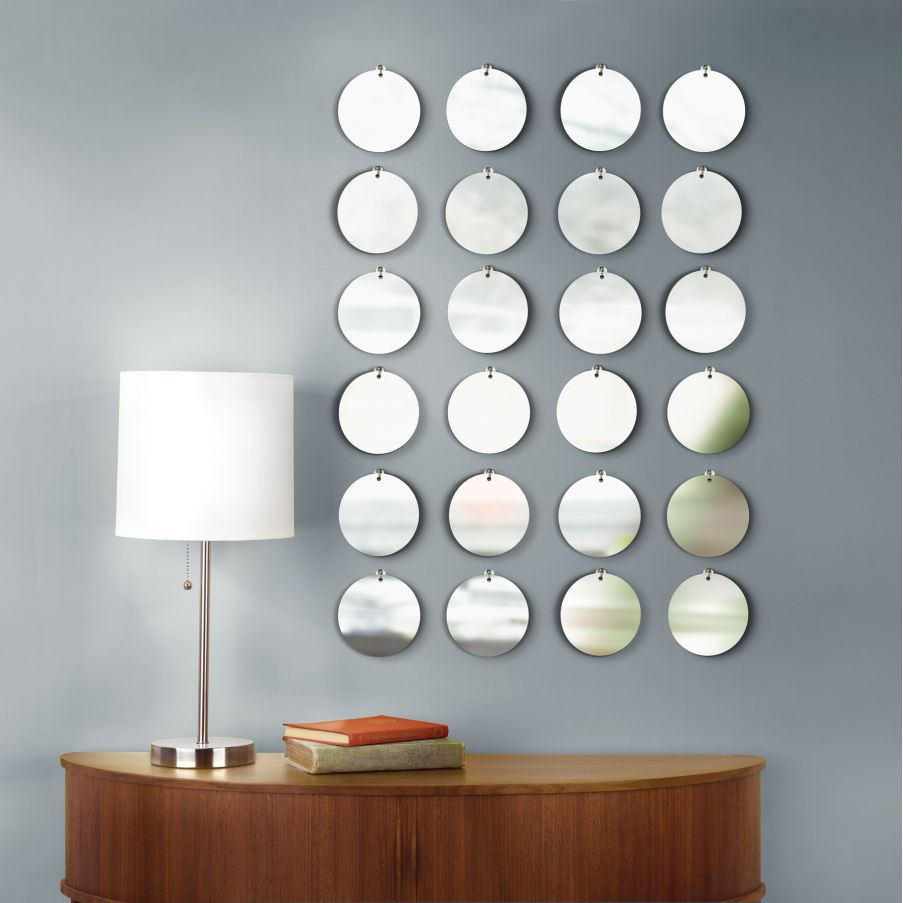 Image of: Small Round Mirror Wall Decor