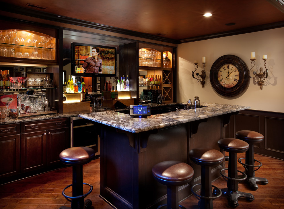 Image of: Style Basement Bar Cabinets