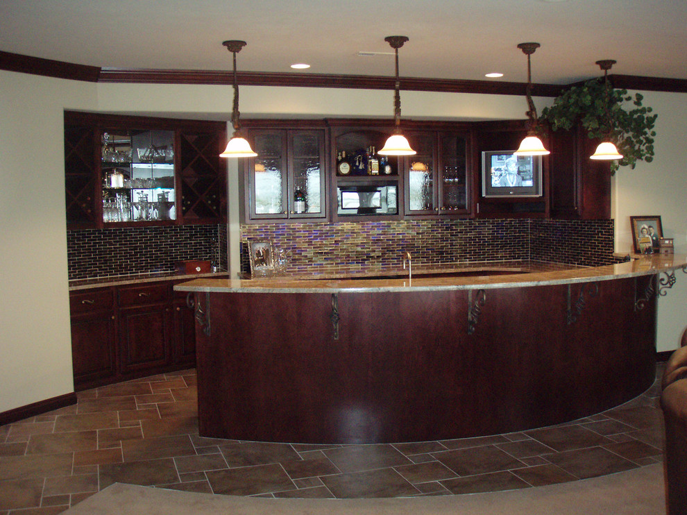 Image of: Traditional Basement Bar Cabinets