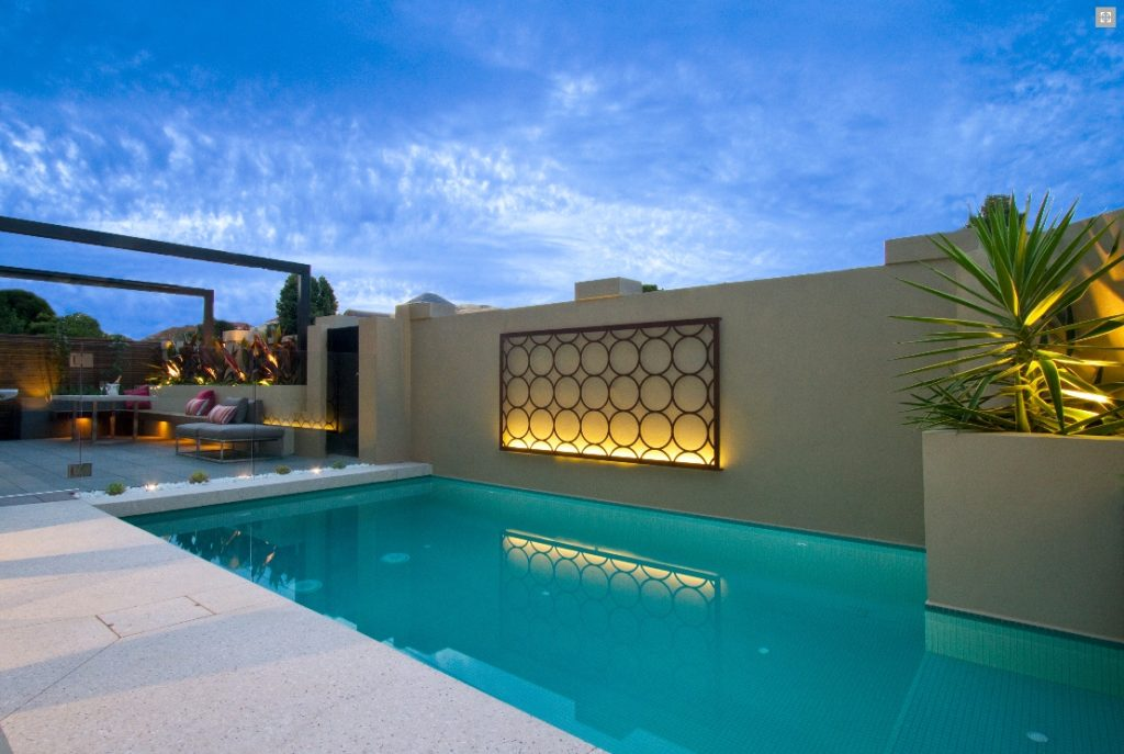 Tropical Outdoor Wall Decor Pool