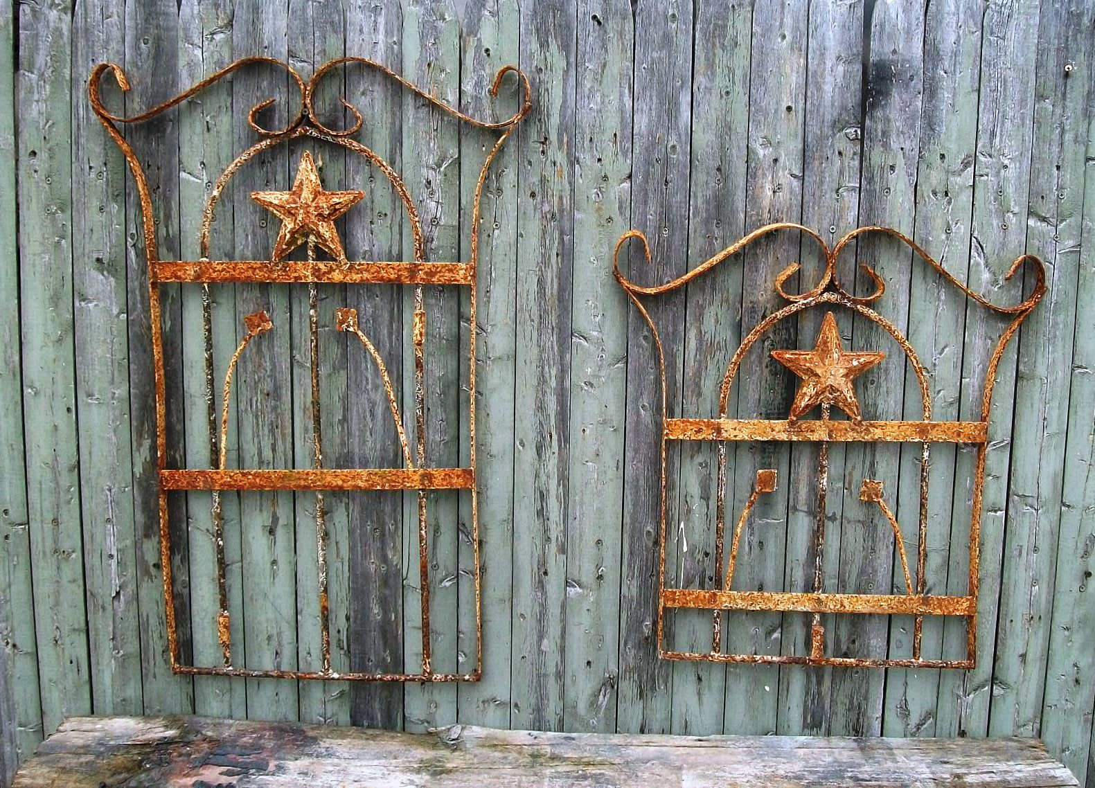 Vintage Wrought Iron Outdoor Wall Decor