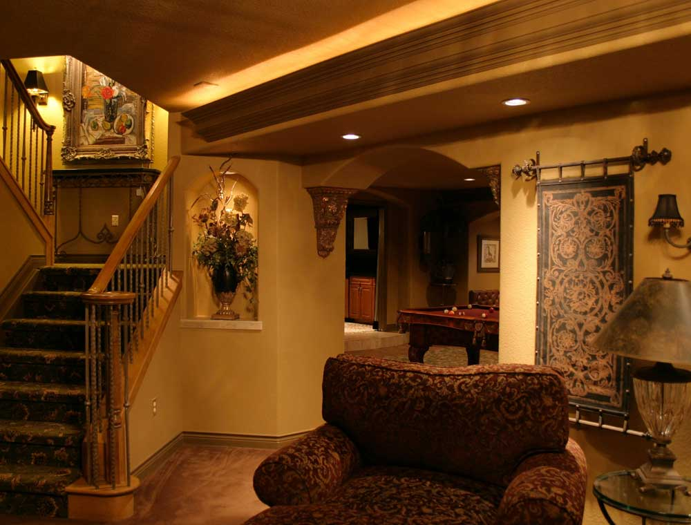 Image of: Warm Basement Design Denver