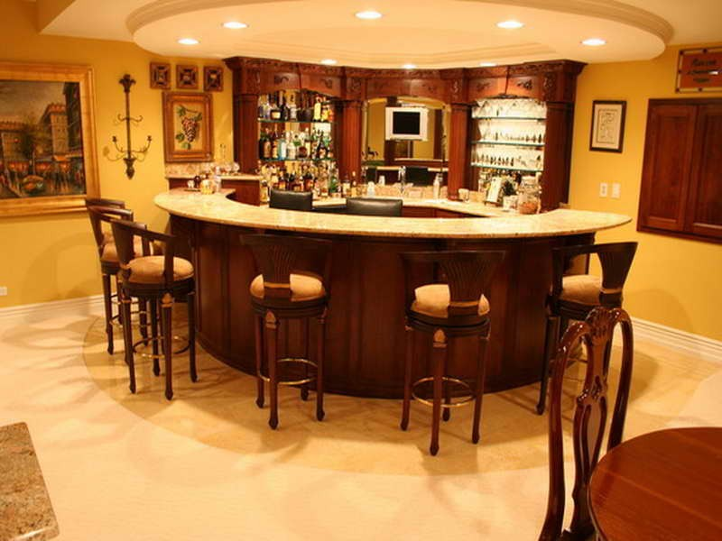 Image of: Wonderful Best Basement Bar Designs