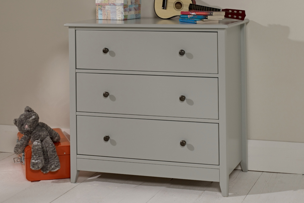 Image of: 3 Drawer Dresser Grey