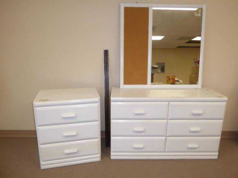 Image of: 6 Drawer Dresser With Mirror White