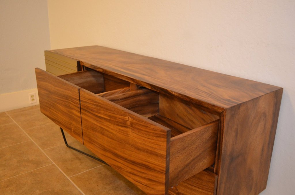 Image of: Acacia Wood Modern Dresser