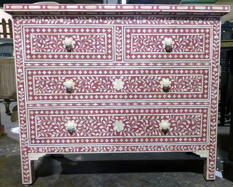 Bone Inlay Dresser Used