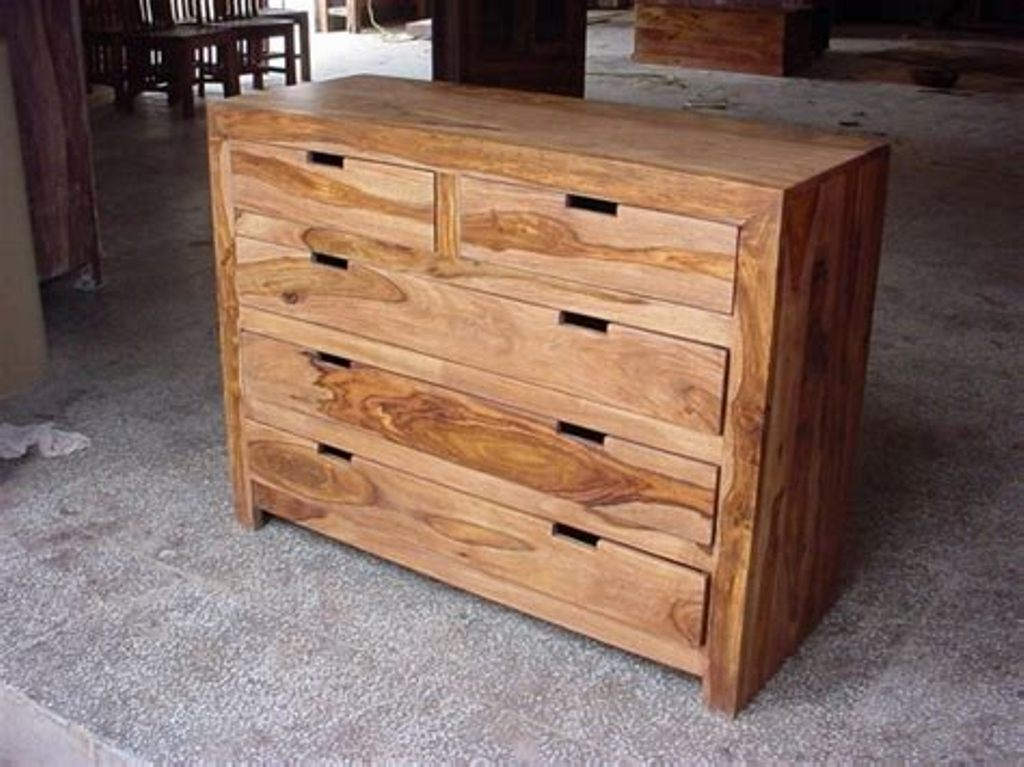 Image of: Carved Acacia Wood Dresser