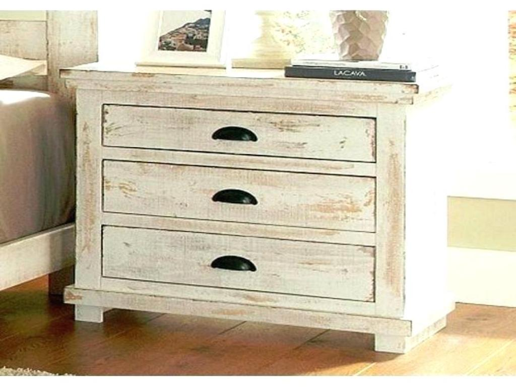 Image of: Distressed Wood Dresser And Night Stand
