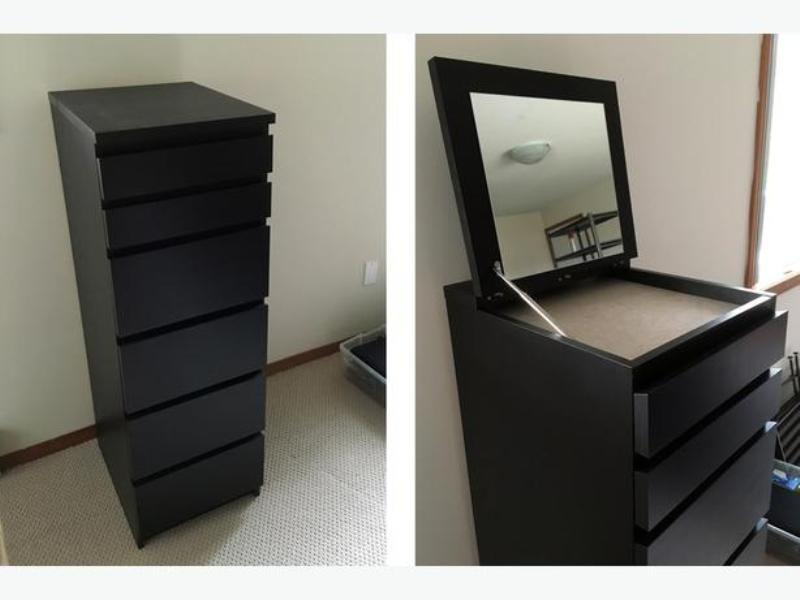 Image of: Malm 6 Drawer Dresser With Mirror