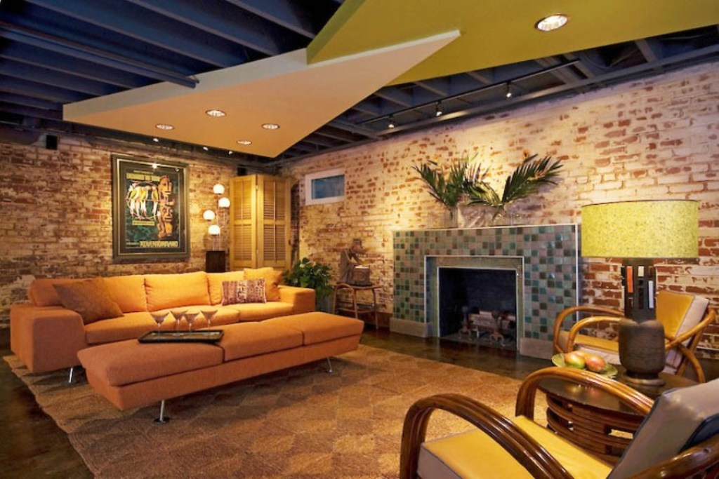 Image of: Awesome Unfinished Basement Ceiling Ideas