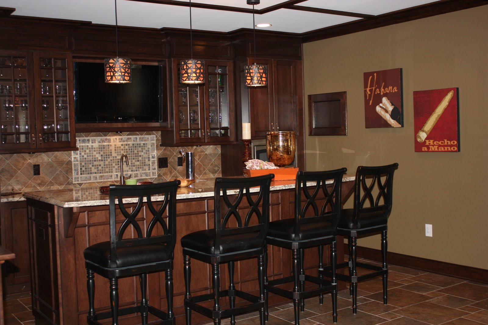 Bar Designs For Basement Dark