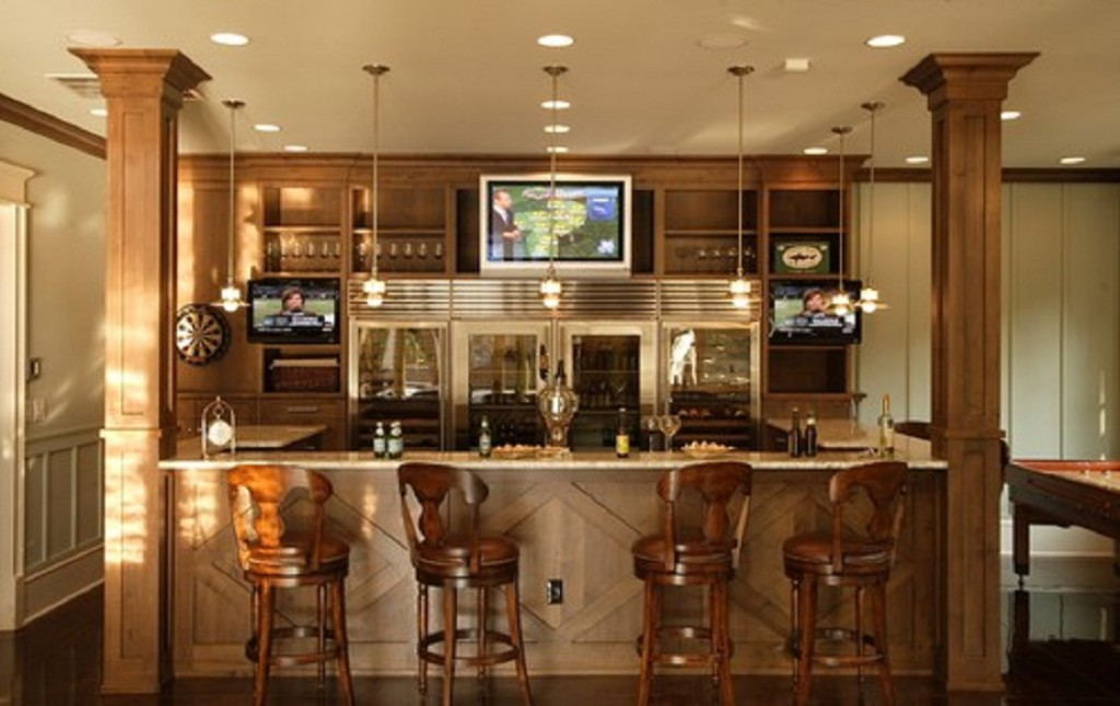 Bar Designs For Basement Elegant