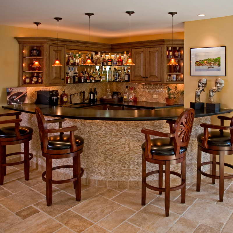 Bar Designs For Basement Popular
