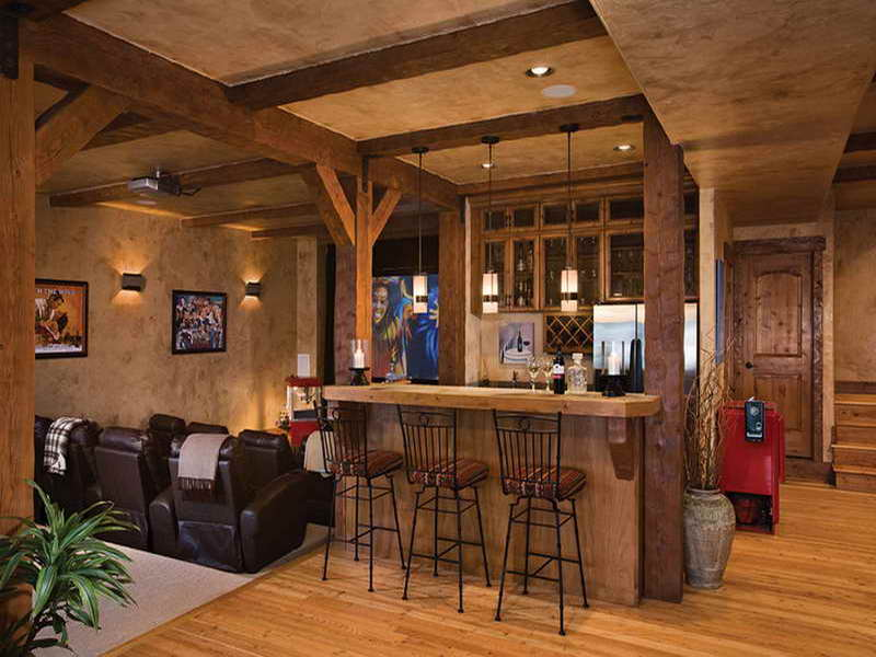 Bar Designs For Basement Rustic