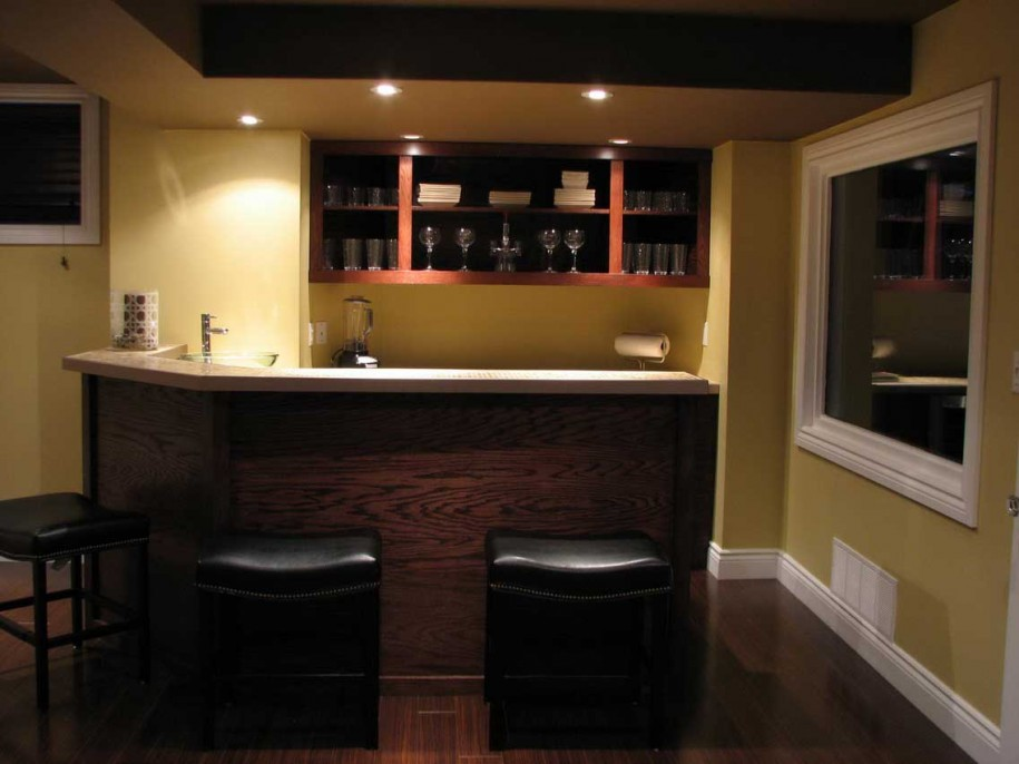 Bar Designs For Basement Simple