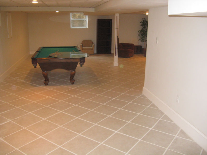 Basement Floor Tiles Image