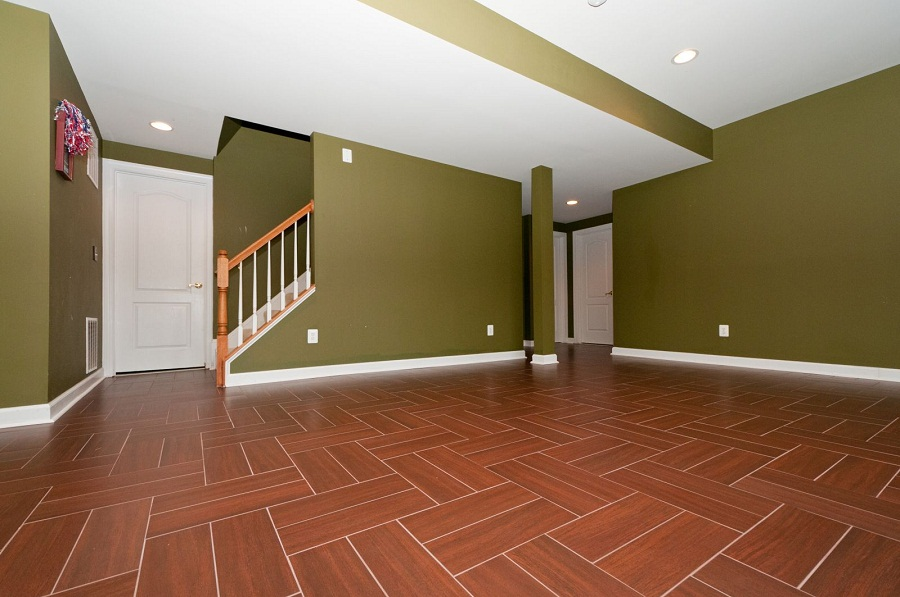Basement Flooring Ideas Pattern