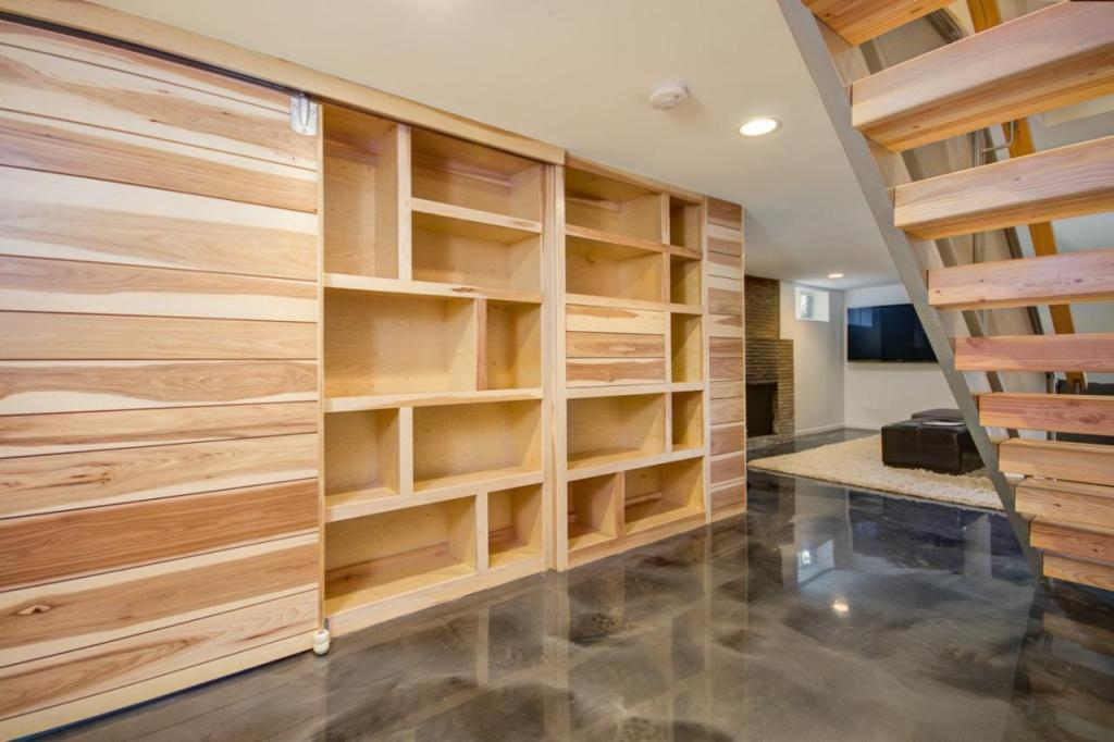Basement Remodel Ideas With Wood Flooring