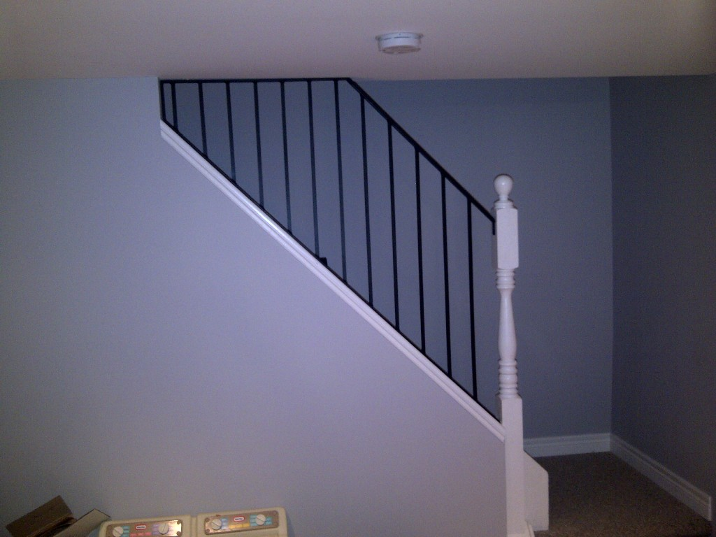Basement Stair Handrail Components