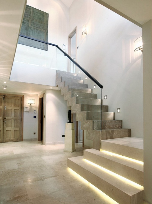 Image of: Basement Stair Lighting Ideas Contemporary