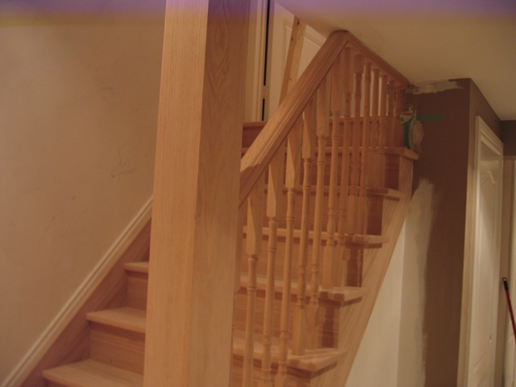 Basement Stair Railing Installation