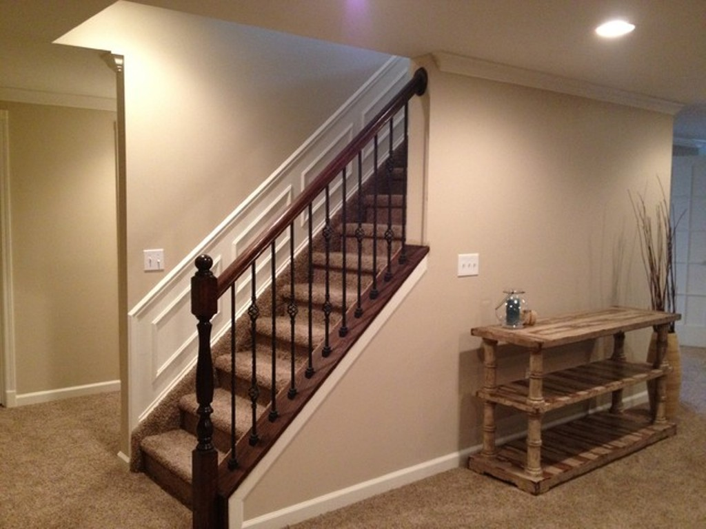 Basement Stair Railing Post