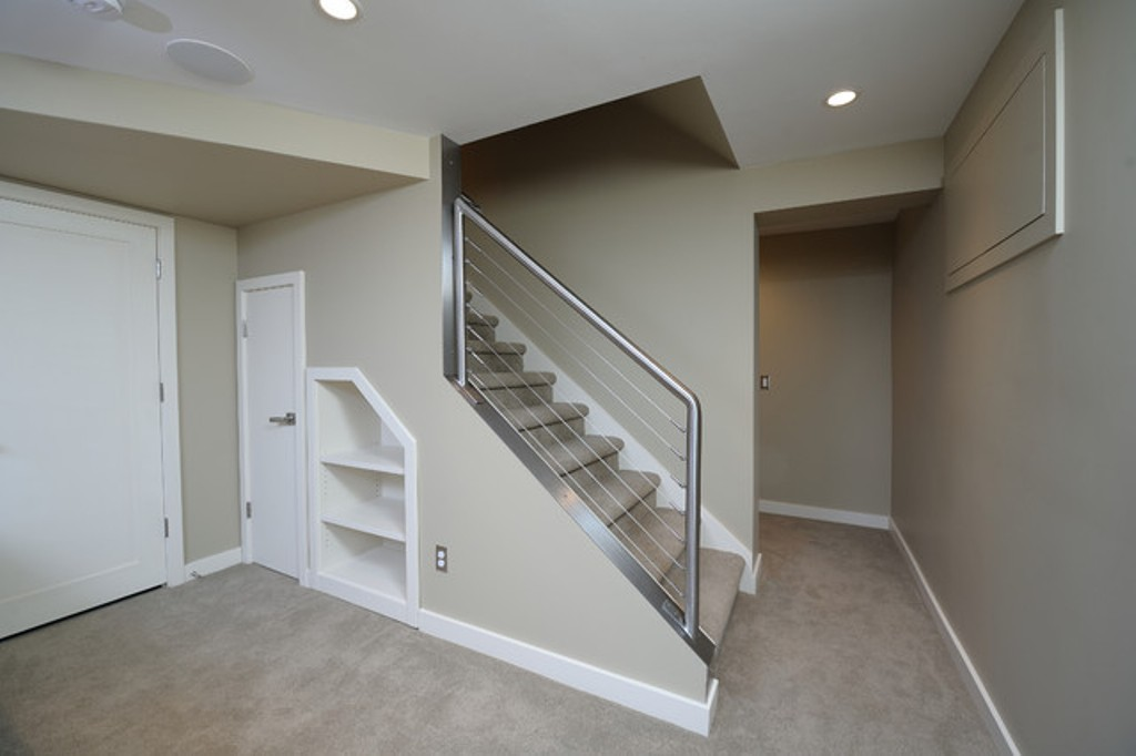 Basement Stair Railing System