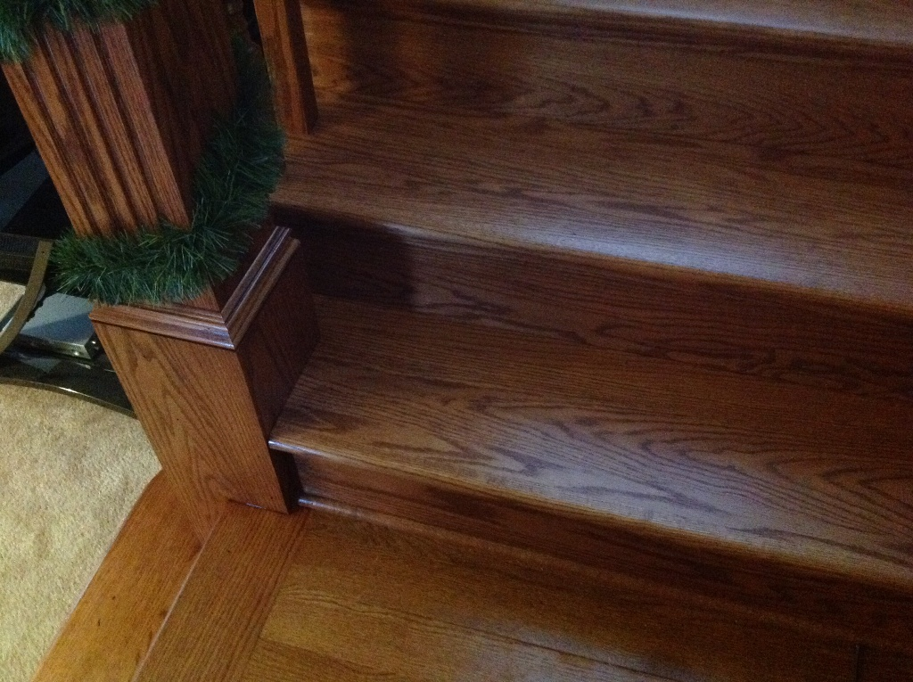 Image of: Basement Stair Treads and Risers