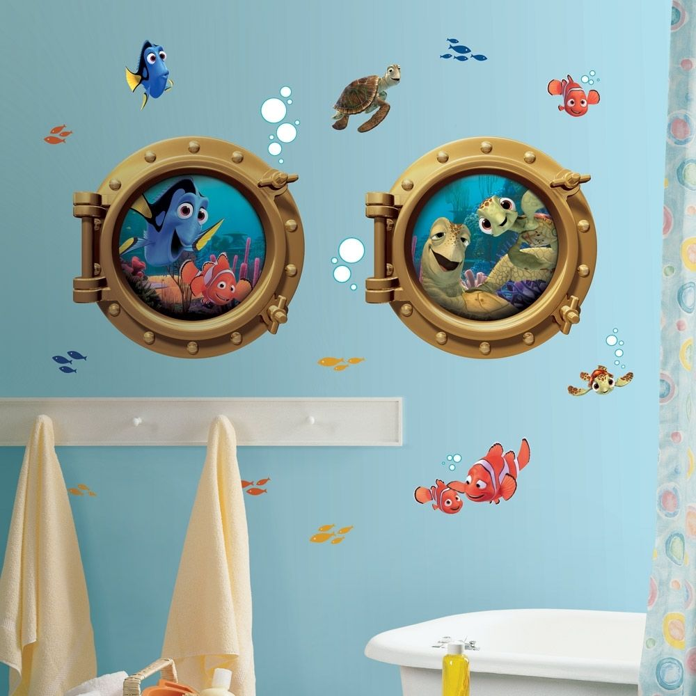 Picture of: Beautiful Kids Bathroom Wall Decor
